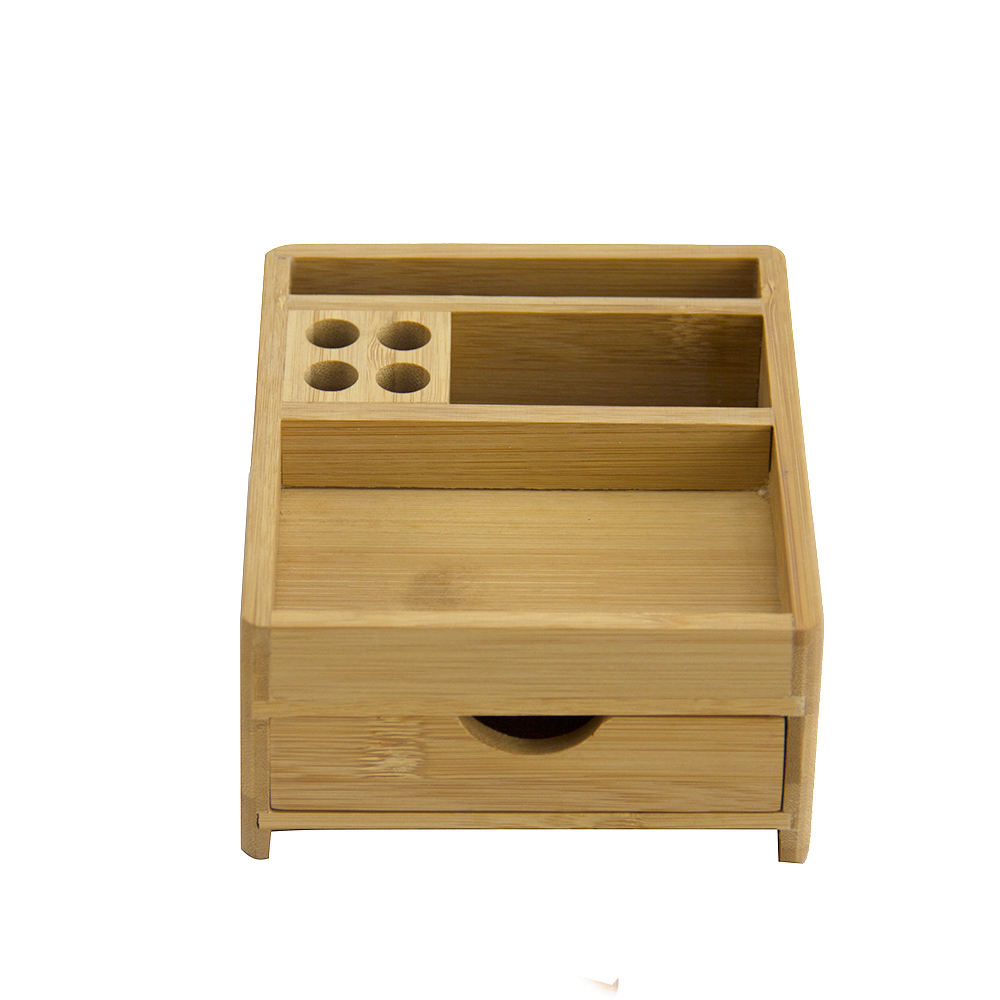 Creative For Easy Storage Of Desktop Clutter Bamboo Desk Organizer