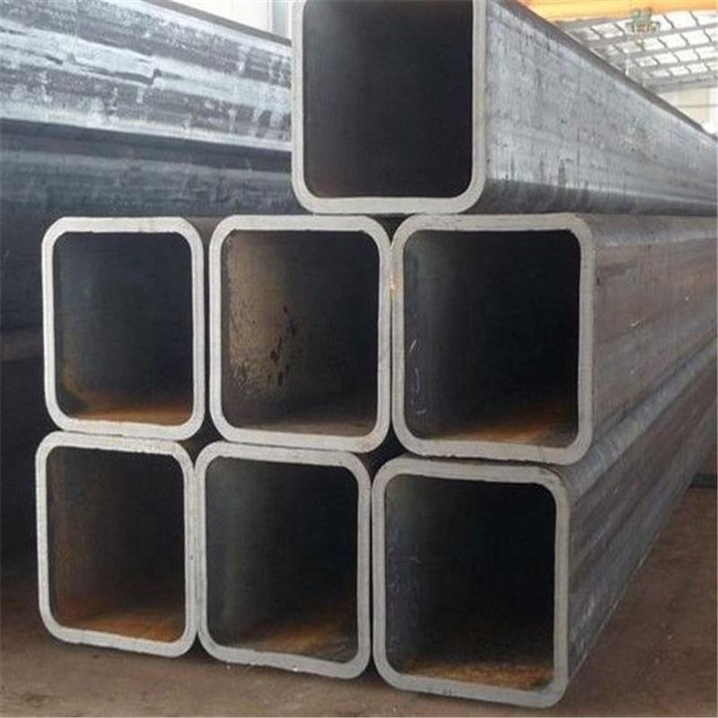 China maket price cross-section ms black square steel tube