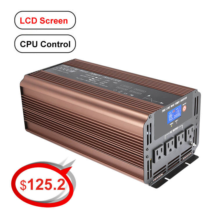 2KW DC AC Inverter quality better than Pure Sine wave power inverter made in japan