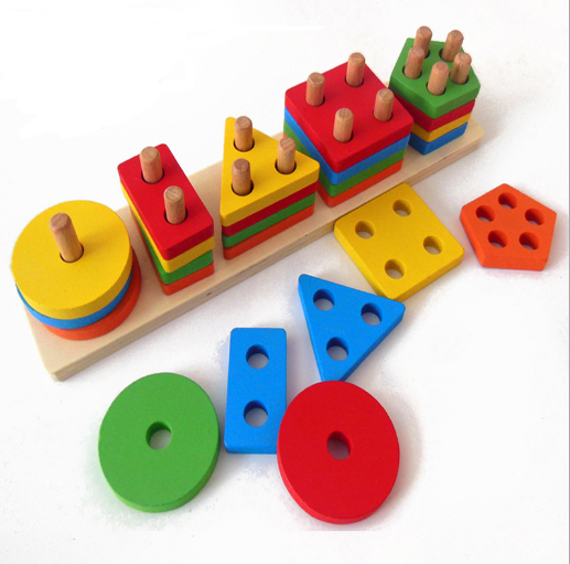 High Quality Early Baby Toys Montessori Education Wooden Number Game Learning Montessori Matching Toys Calculating For Kds