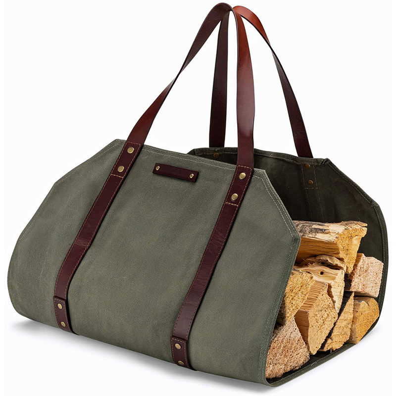 New Arrival Amazing design waxed canvas firewood tote