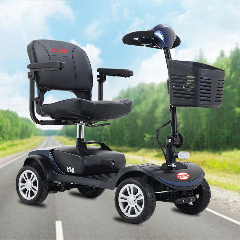 Folding Travel Transport Elderly Mobility Scooter Lightweight Portable 4 Wheel Compact Power Scooter For Old People