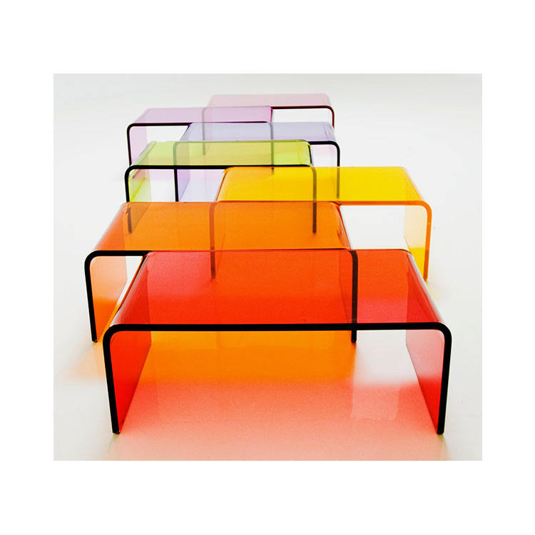 High Quality Moden Simple U-Shape Design Clear Acrylic Coffee Table For living Room Decoration