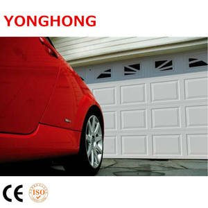 Promotional cheap steel door /metal skin making machines sectional garage doors with small windows