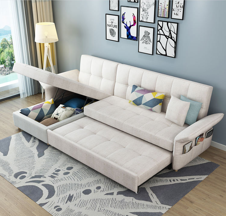 Hotel relax modern multi functional sofa with bed function