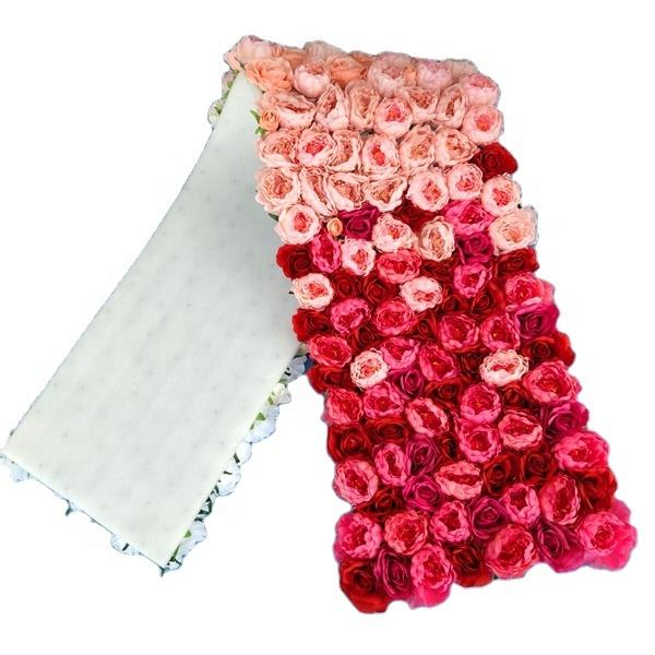 Customized Decorative Flowers Wedding Floral Decoration Roll Up