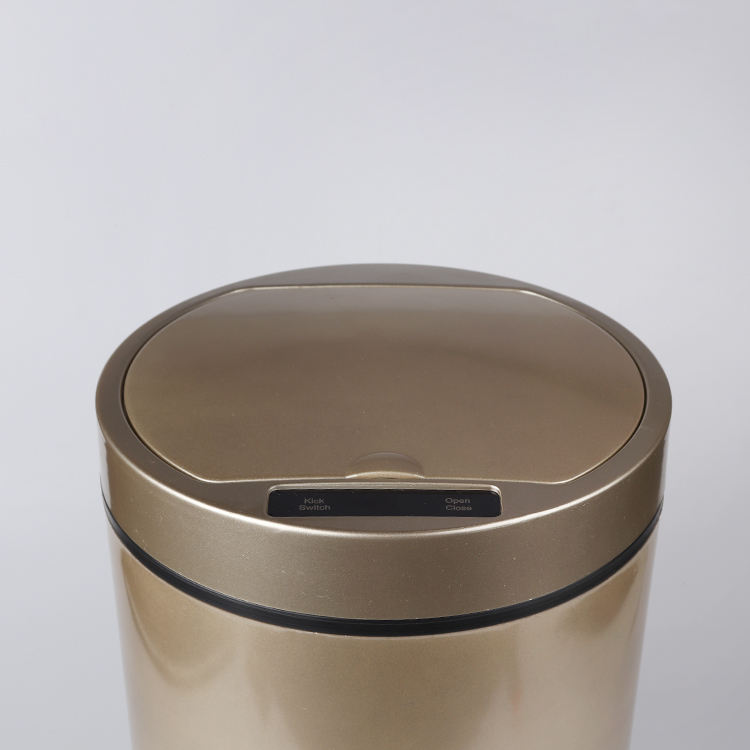 Stainless steel trash can bathroom hotel garbage trash bin waste bin metal