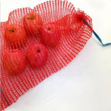 PE fruit net bag Raschel mesh bags for Plastic firewood Garlic Onions Packing / PP Leno mesh bags for fruits and vegetables
