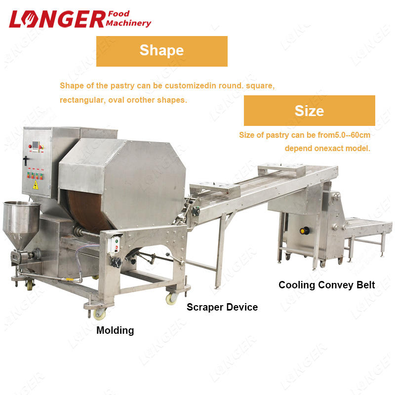 Commercial Spring Roll Sheet Pastry Maker Lumpia Spring Roll Wrapper Making Machine
