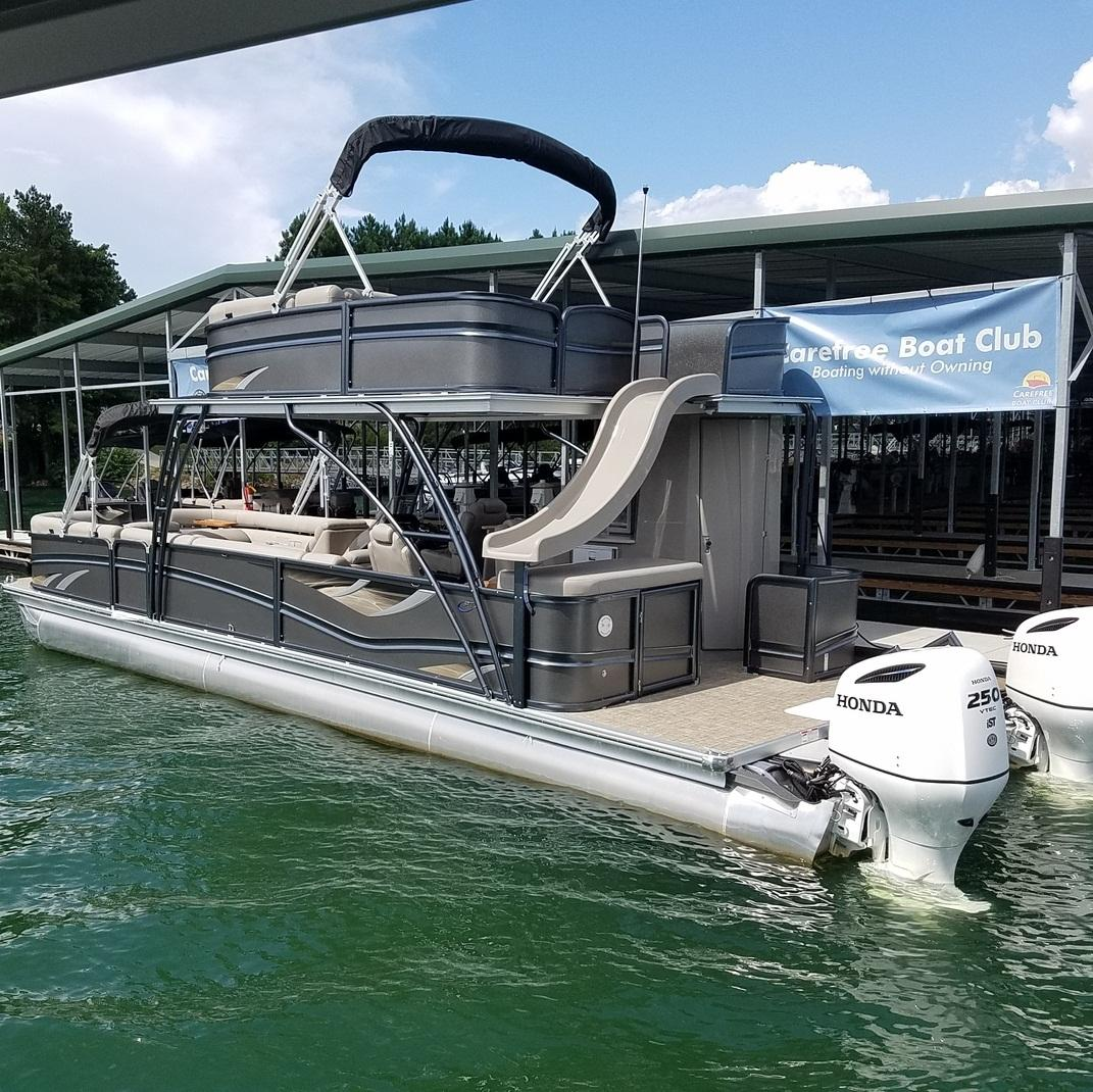 Best Big 30 Ft Luxury Double Decker Pontoon Boat With Bathroom And Slide For Sale In Good Price