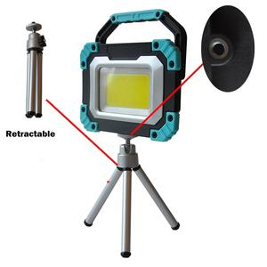 High Beam New Most Powerful Portable Outdoor LED Flood Lights with Retractable Tripod Stand