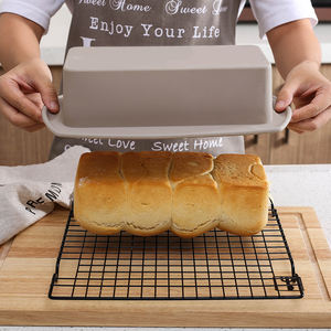 Amazon Hot Sale Heat Resistant Non Stick Baking Tray Flexible Long Bread Silicone Loaf Pan