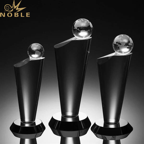 Personalized Crystal Globe Trophy Metal Award Plaque Souvenir Gifts Wholesale