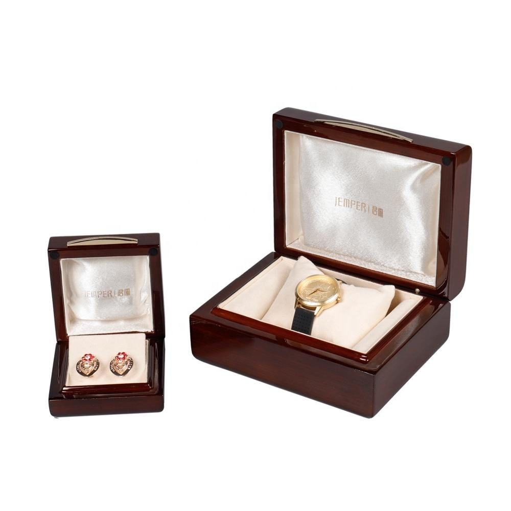 Customized Exquisite High-gloss Lacquered Jewelry Wood Packaging Gift Box