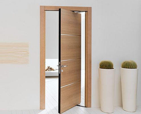 Factory directly supply wholesale price pivot plain wooden door for house
