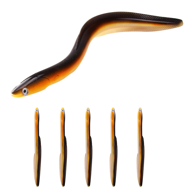 Fast Delivery Cheap Electric eel Fake Lure Fishing Bait Rice Field eel Artificial Soft Lure 30cm