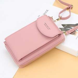 High Quality Ladies PU Leather Vertical Purse Multifunctional Standard Clutch Messenger Bag Fashion Casual Bag