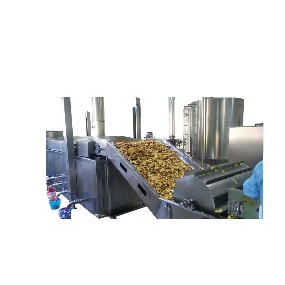 Automatic Fried Banana Chips Slicing Machine, Frying Machine