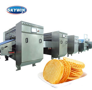Skywin Cuit Ondulé Chips Ligne de Production Faisant La Machine