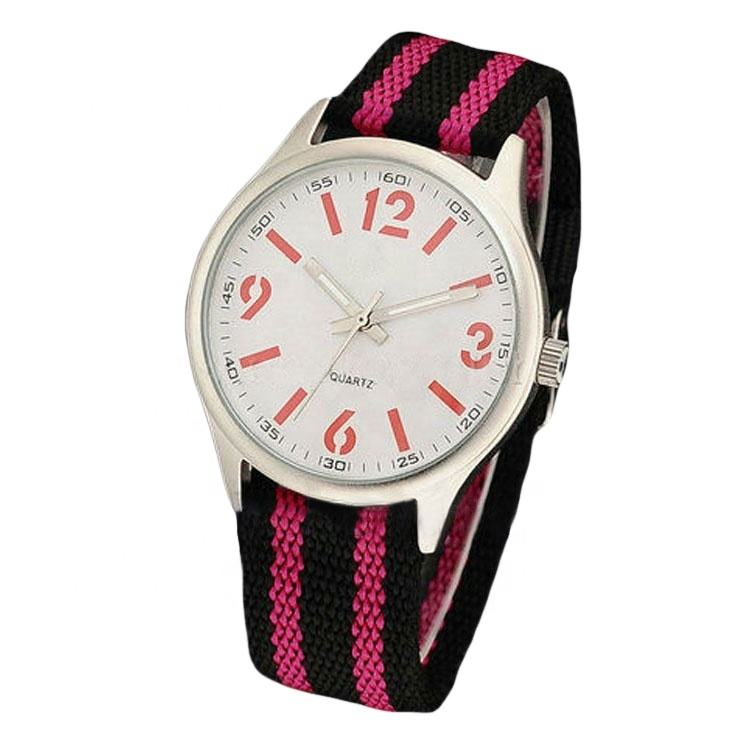 Men and women fabric watches wit cavas strap or zulu watch strap