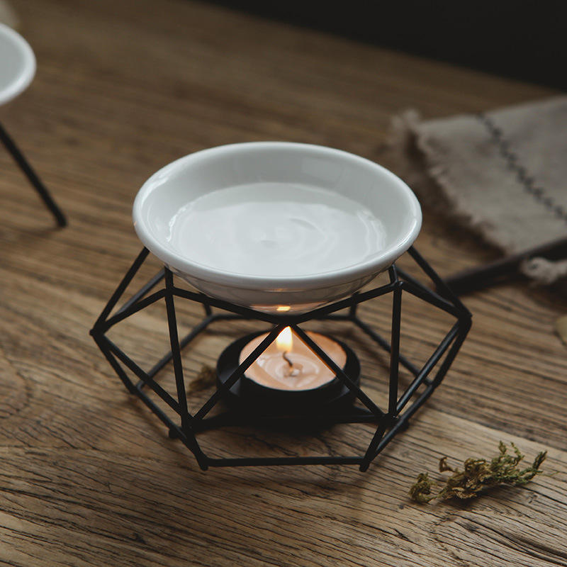 Delicate Romantic Ceramic Tealight Candle Holder Oil Burner Aroma Diffuser Furnace Home Decoration iron oil burner