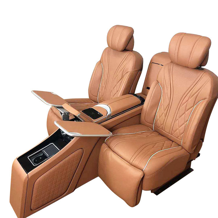 Luxurious Leather Adjustable Auto Power SUV Seat with backrest adjustment