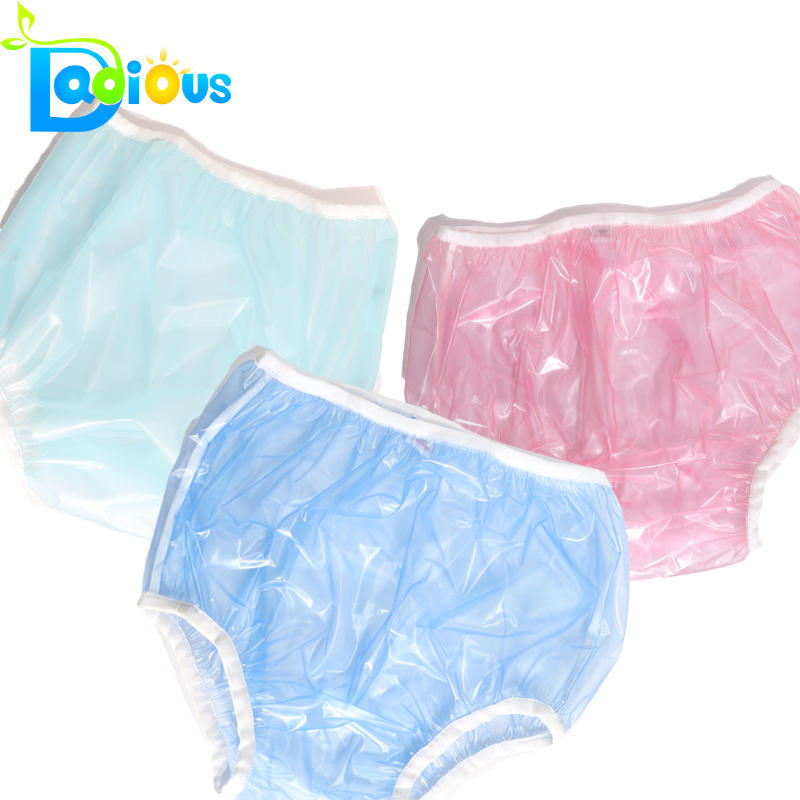 Instock PVC Pants In Adult Diapers Plastic Pants Adult Baby ABDL PVC For Cloth Diaper