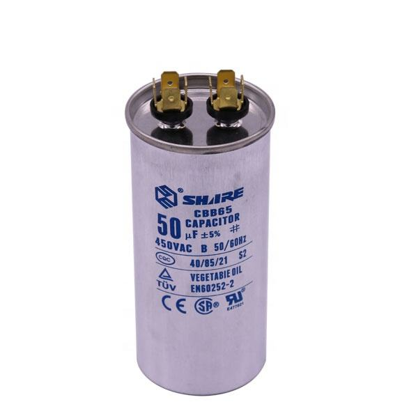 CQC//TUV Certified 40//85//21 SH C 450VAC 35+5 uF +5/% CBB65 Dual Pump//Motor Run Capacitor IEC-252 50//60Hz