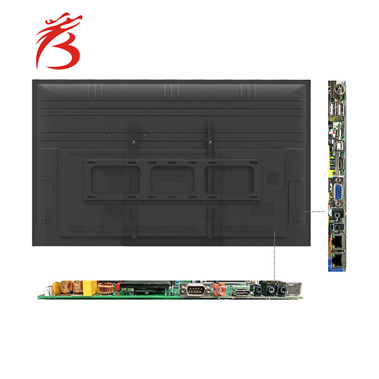 Graphic Customization Computer 55 Inch Touch Screen Monitor Interactive Screen Whiteboard Computer With School Teaching Application