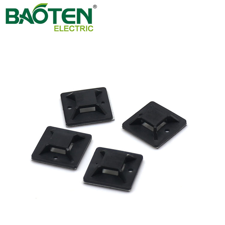 BAOTENG BT high quality plastic Cable Tie Mounting Base hole mounting wire zip Tie Mounts