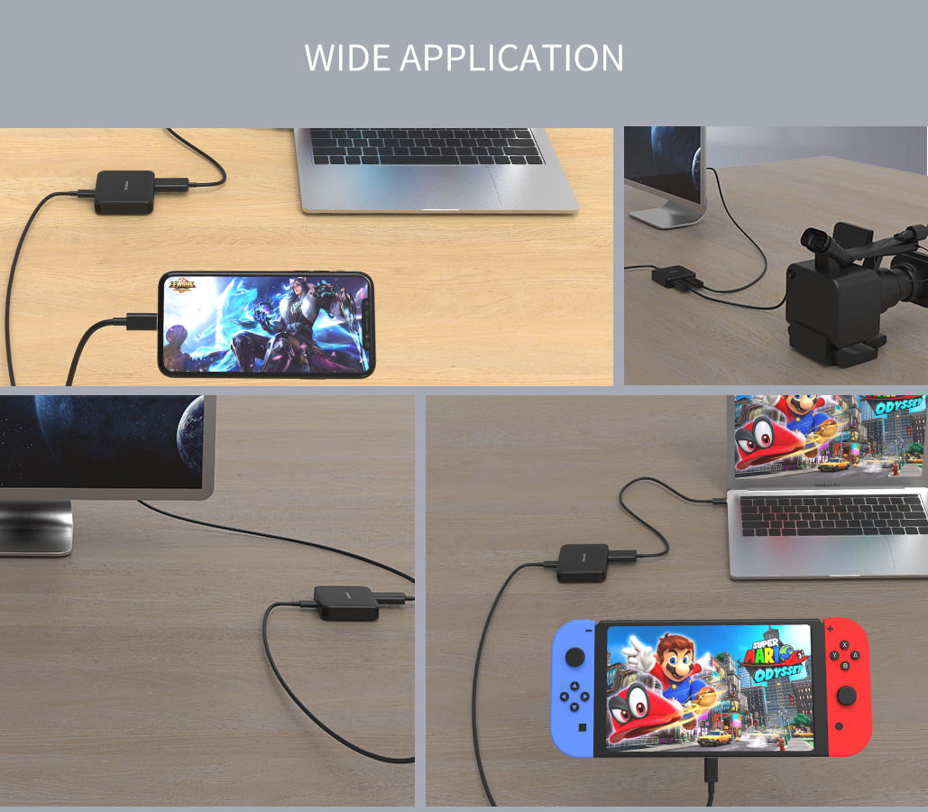 HDMI Game Capture Card HD Video Capture 1080P HDMI Video Recorder Compatible with Xbox One/ PS4/ Wii U /Nintendo Switch etc.