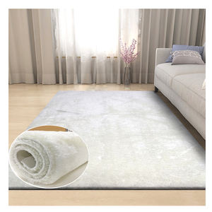 Cheap Guangzhou Modern High Quality Long Pile Living Room Polyester Soft Plush Large White Shaggy Rugs