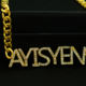 Name Pendant Necklace Necklaces Gold Name Necklace Pendant Custom Name Crystal Pendant Zircon Necklace Hip Hop Necklaces Crystal Jewelry With Gold Plating Color Horswipe Chain Necklace