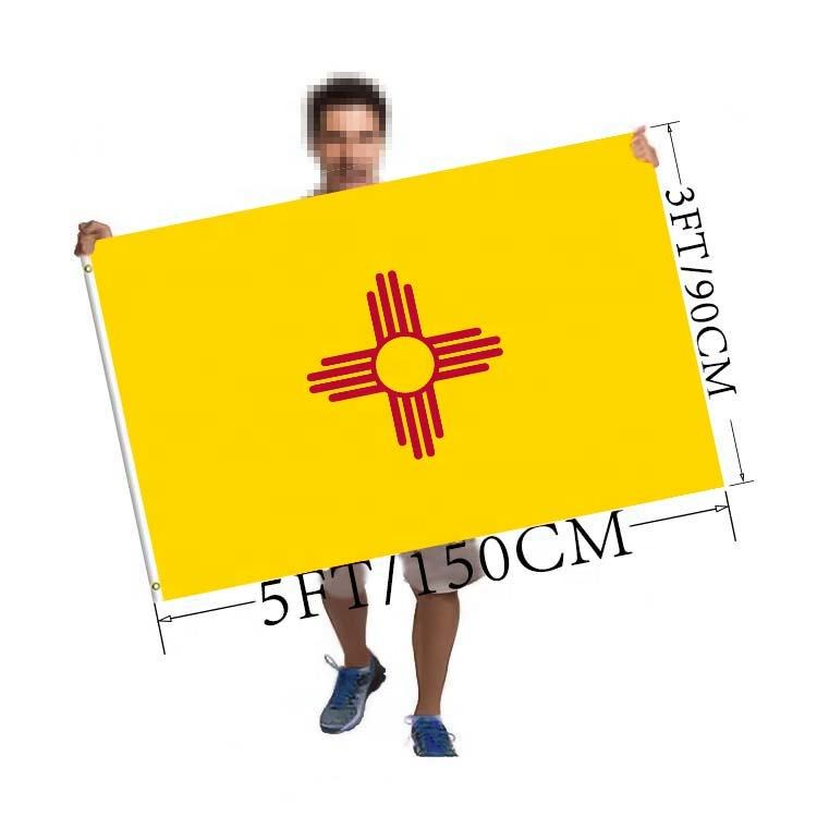 Custom 3x5 Foot New Mexico State Flag Polyester Any picture/Print Your Own Logo/ Small quantity can also be customized
