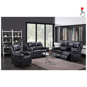 Home cinema synthetic lmodern leather lift recliner sofa set