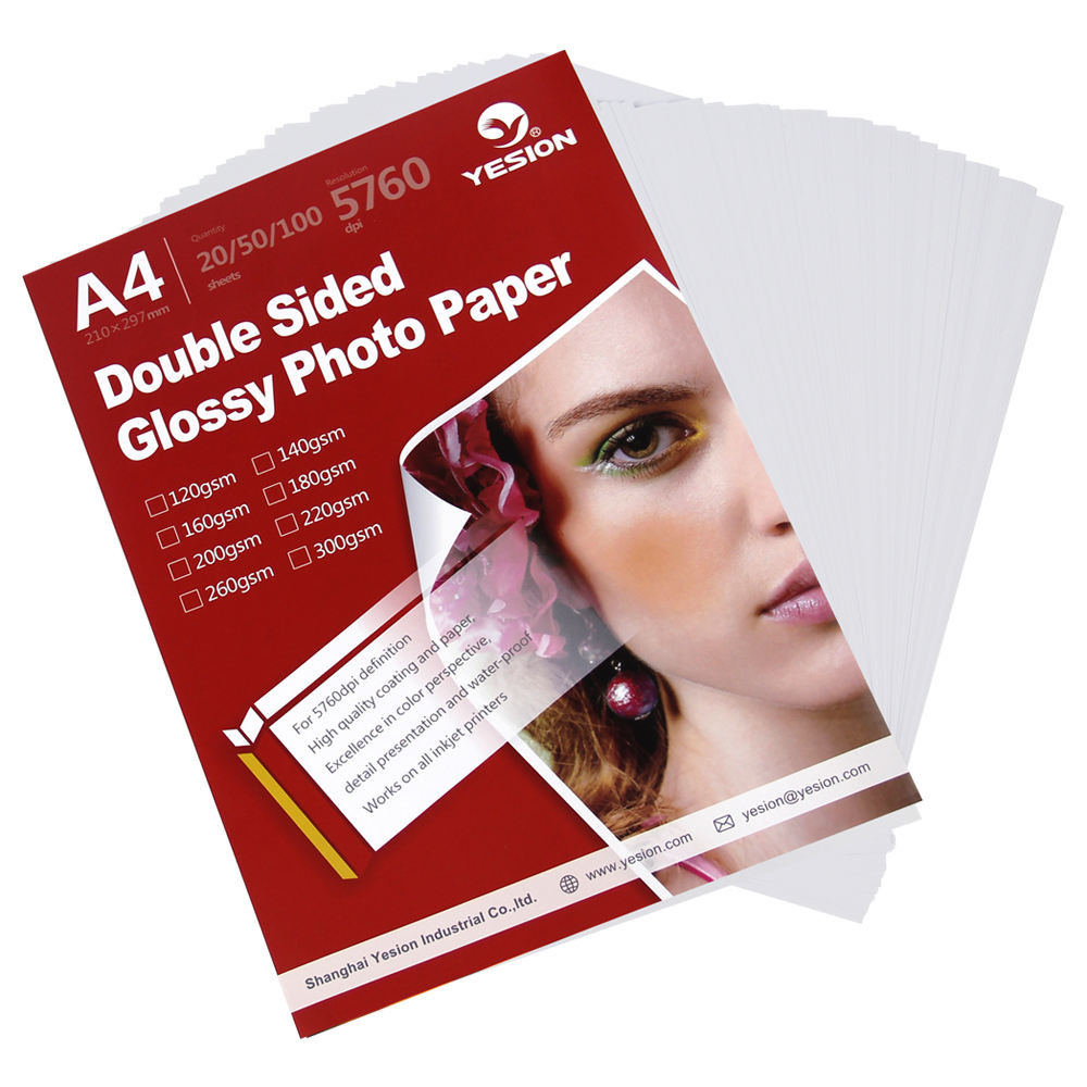 Easy Simple To Use Double Side Photo Paper Glossy A4 Inkjet Printing Photo Paper A4 craft paper