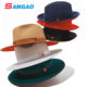 Wholesale ladies felt church hat with red bottom fedora