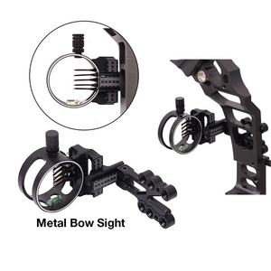 Arrow Hunting 5 Pin Recurve Compound Bow Sights Fiber Optics Custom Logo Archery Sights