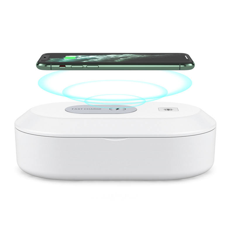 2020 new 15W mobile phone wireless charging sterilization box LED UV disinfection box