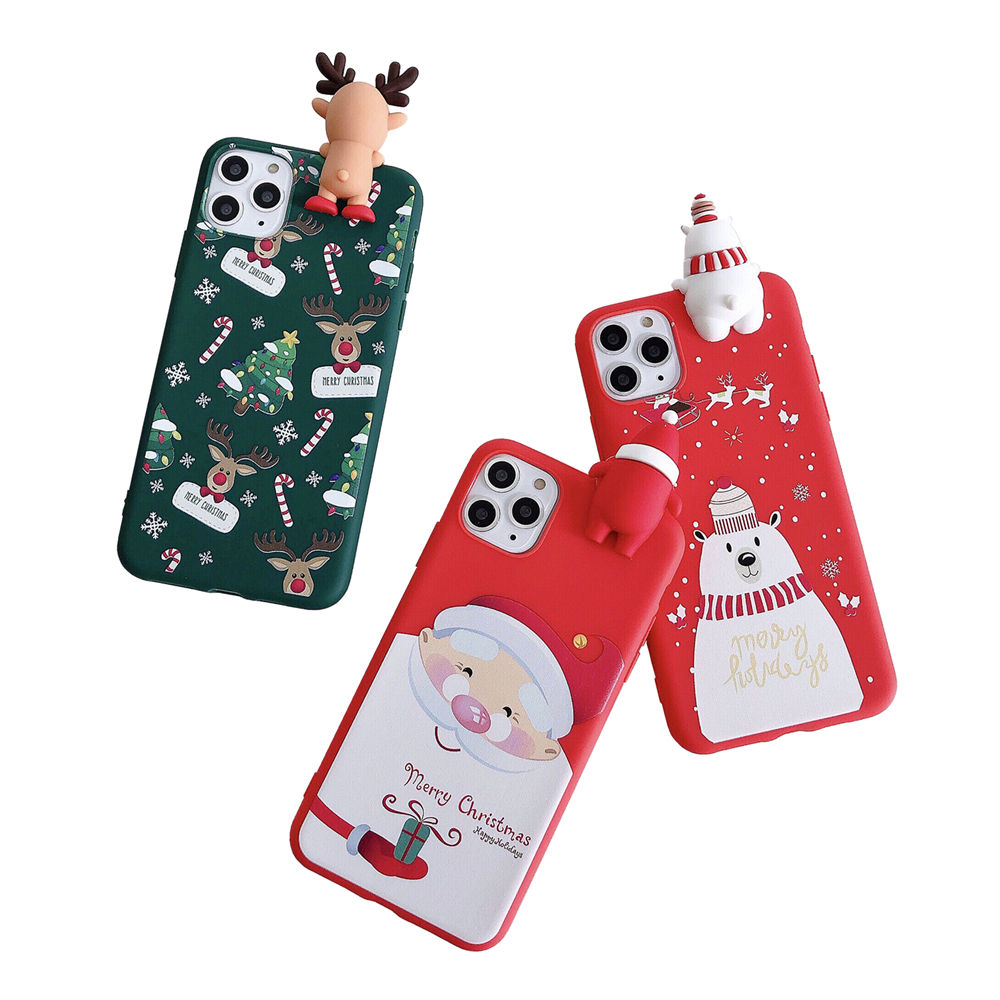 Merry Christmas Gift doll Matte Soft TPU Mobile Phone Case For iPhone 11 PRO MAX