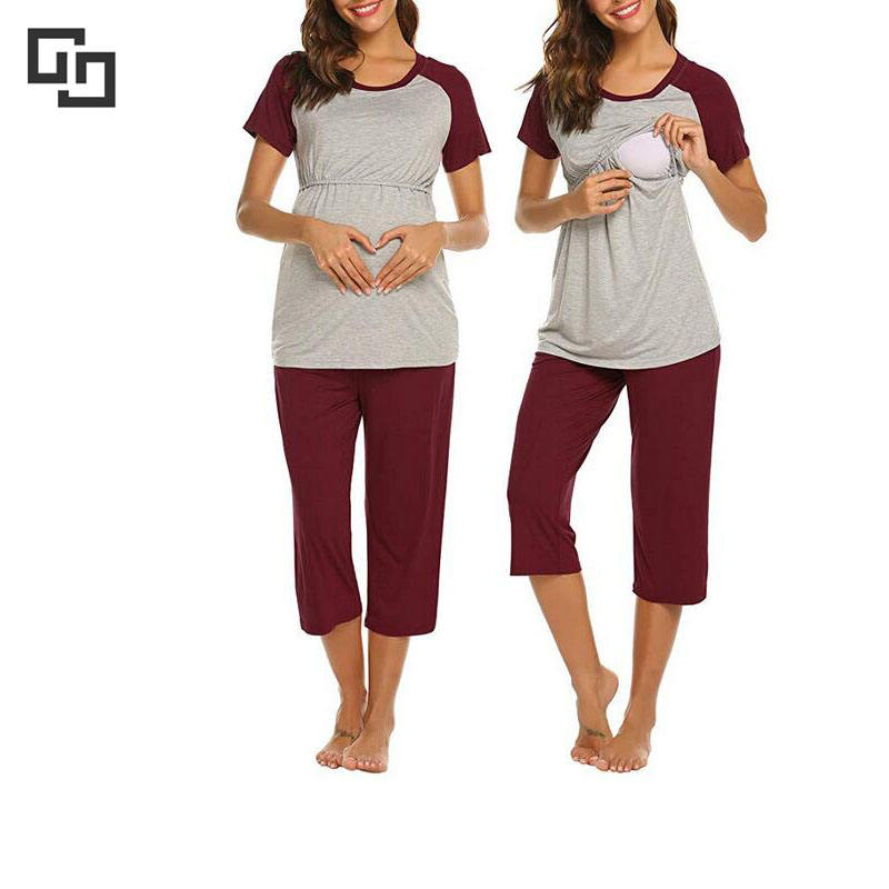 women maternity loose style sleepwear women casual pregnant pajamas