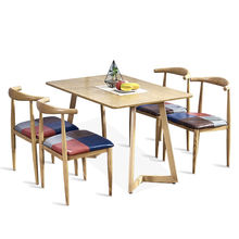 modern design Dining room furniture Retro solid wood antique originality  dining room set 4/6/8/10/12 dining chairs and table