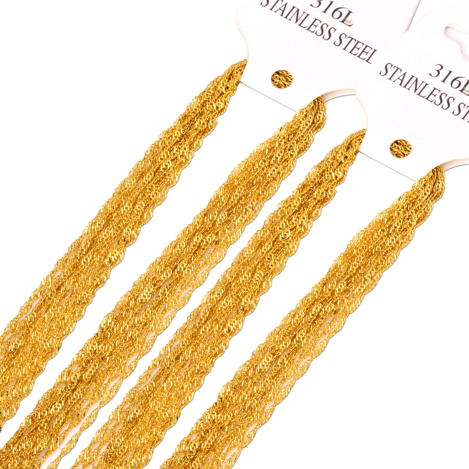 "Promotion Sale wholesale 10pcs/lot Gold Silver Color 2mm Link Necklace Chains 18"",20"" ,22"",24inch Fashion Jewelry Flat Chains"
