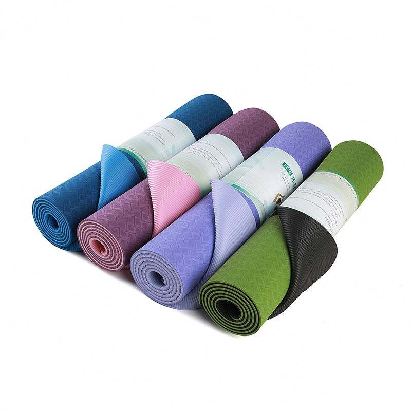 10mm thickness tpe yoga mat hot sale exercise mat gymnastics