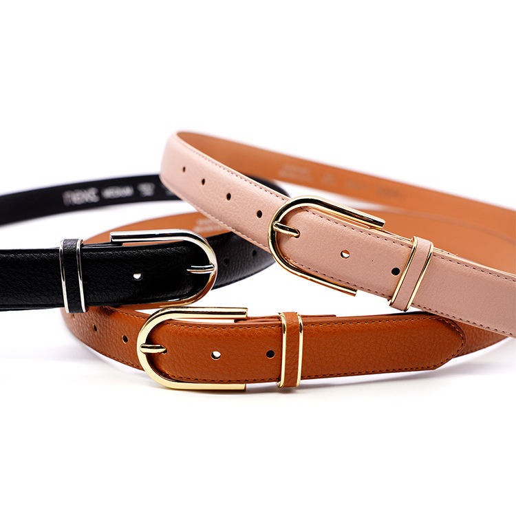 Wholesale Pu Fabric woman belt Plastic Buckle Luxury Fashion slim bling Waist Belt