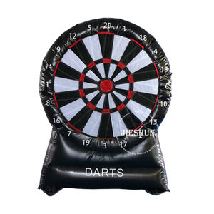 2m high 0.55mm PVC single face inflatable football kick shooting target dart board factory sale direct
