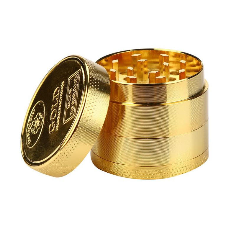 Hot Sale Alloy Herbal Herb Tobacco Grinder Spice Weed Grinders Smoking Pipe Accessories Gold Smoke Cutter