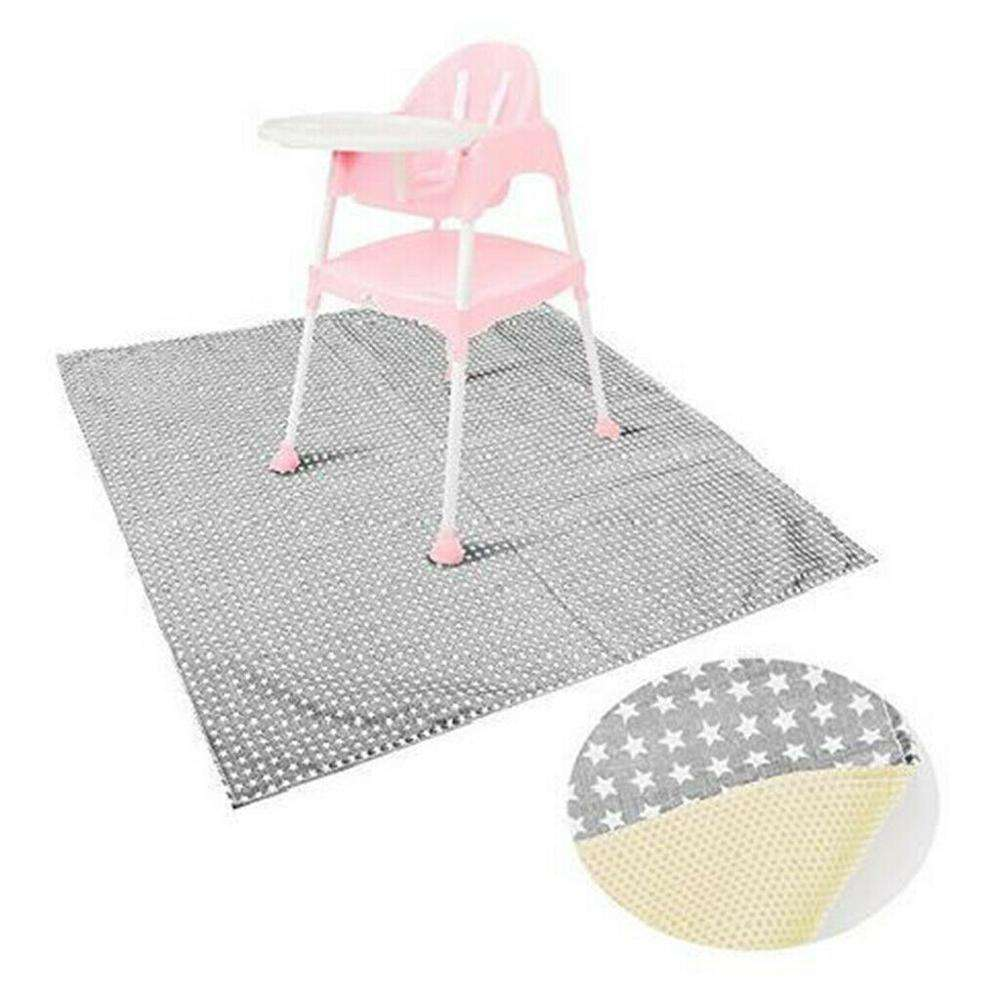 Q676 Hot Baby High Chair Floor Mat Protector Cover Washable Kids Play Splat Mat