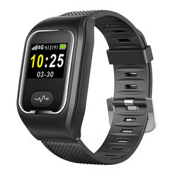 Android 4.4 IP65 Waterproof Smart Watch Wristband Strap Custom Black Color Smart Wristband Watch