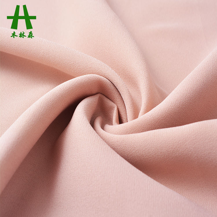 Mulinsen Textile Custom Color P/D Wool Dobby Georgette Fabric for Women